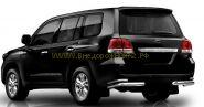 Защита заднего бампера уголки двойные 76х43 мм (HSE1NJ2076P) для Toyota Land Cruiser 200 2012 -