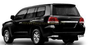 Защита заднего бампера уголки одинарные 76 мм (HSE2NJ2076P) для Toyota Land Cruiser 200 2008 -