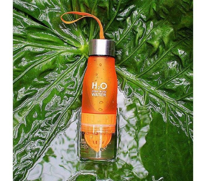 Бутылка-соковыжималка H2O Drink More Water, 650 мл (Цвет: Оранжевый)
