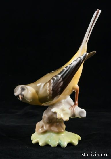 Изображение Желтая птица, Hutschenreuther, Германия, 1955-68 гг
