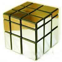 Кубик золотистый (разные грани)