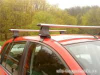 Багажник на крышу Ford Fusion, Атлант, аэродинамические дуги