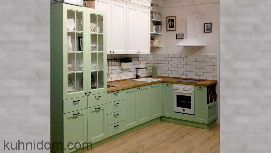 Кухня Марио Зелено-Белая