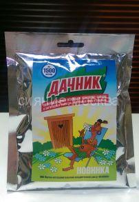 """""""Дачник"""" для выгребных ям и септиков, биотуалетов (пакет на 1500 л)"""