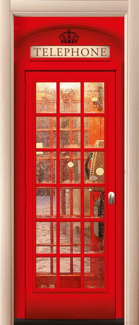 Наклейка на дверь - Телефон 2