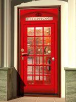 Наклейка на дверь - Телефон 2 | магазин Интерьерные наклейки