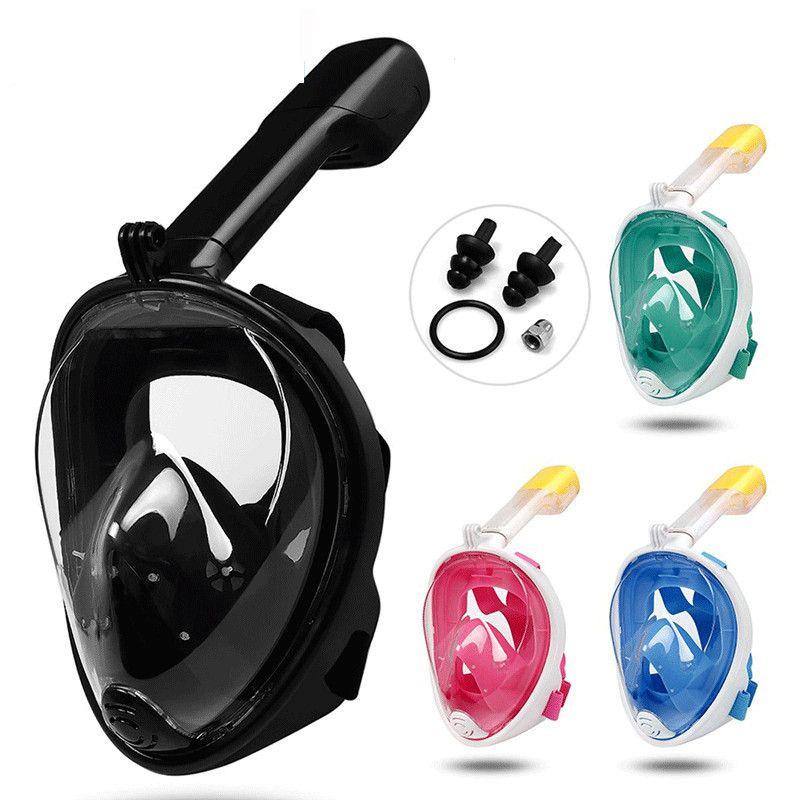 Подводная маска для снорклинга, Размер: L/XL