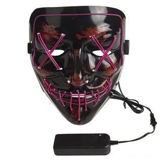 Неоновая маска Судная ночь, Цвет свечения: Сиреневый