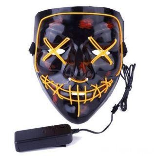 Неоновая маска Судная ночь, Цвет свечения: Жёлтый