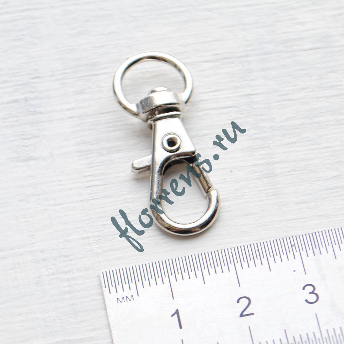 Карабин 30*12 мм / серебро