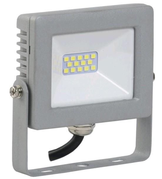 IEK прожектор св/д СДО 07-10 10W(800lm) SMD 6500K 6K 70x90x25 серый IP65 LPDO701-10-K03