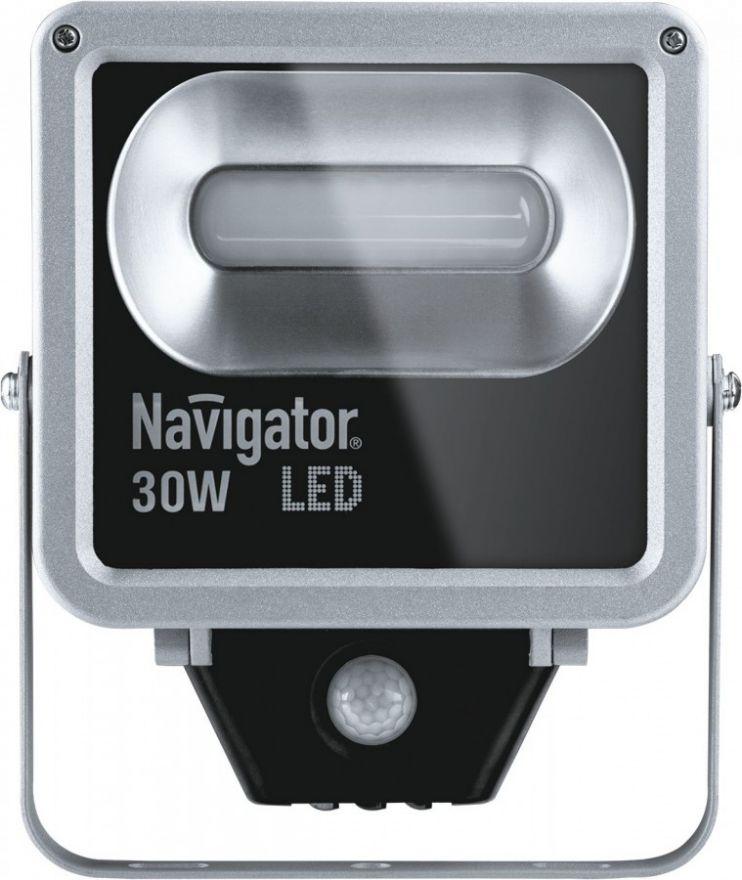 Navigator прожектор св/д  30W(1800lm)4000K 4K IP65 197х176х55 д/движ.серый NFL-M-30-4K-SNR-LED 71321