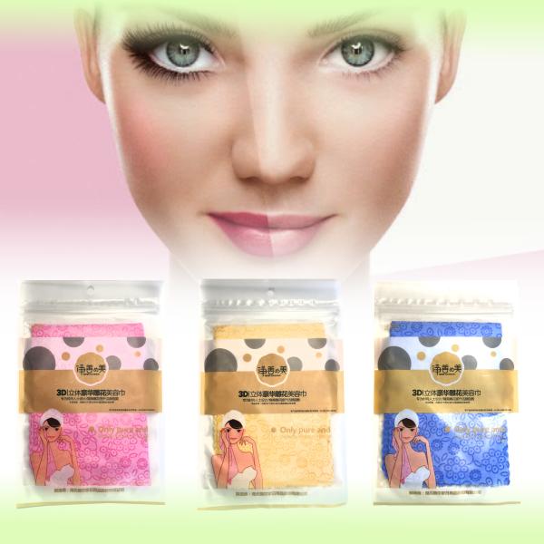 Салфетка для умывания и снятия макияжа 3D