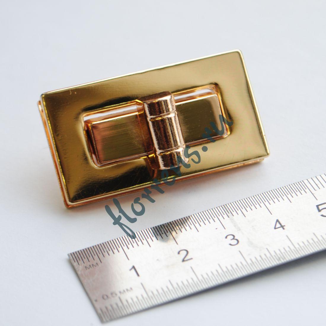 Застежка для сумки 44 х 29 мм / золото