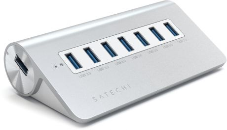 USB-хаб Satechi 7 Port USB 3.0 Premium Aluminium HUB (SH-UHA37W) для Mac