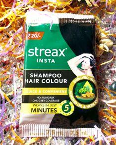 Краска-шампунь для волос, 5  мин. Черный , STREAX INSTA SHAMPOO HAIR COLOUR