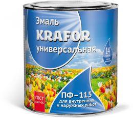 """ЭМАЛЬ ПФ-115 КРАСНАЯ  0,8 КГ (14) """"KRAFOR"""""""