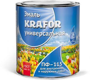 """ЭМАЛЬ ПФ-115 ШОКОЛАДНАЯ  0,8 КГ (14) """"KRAFOR"""""""
