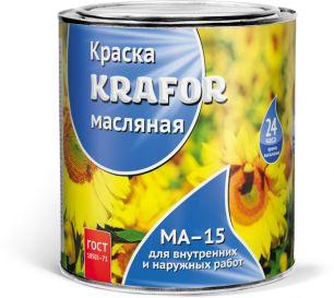 """КРАСКА МА-15 СЕРАЯ  0,9 КГ (14) """"KRAFOR"""""""
