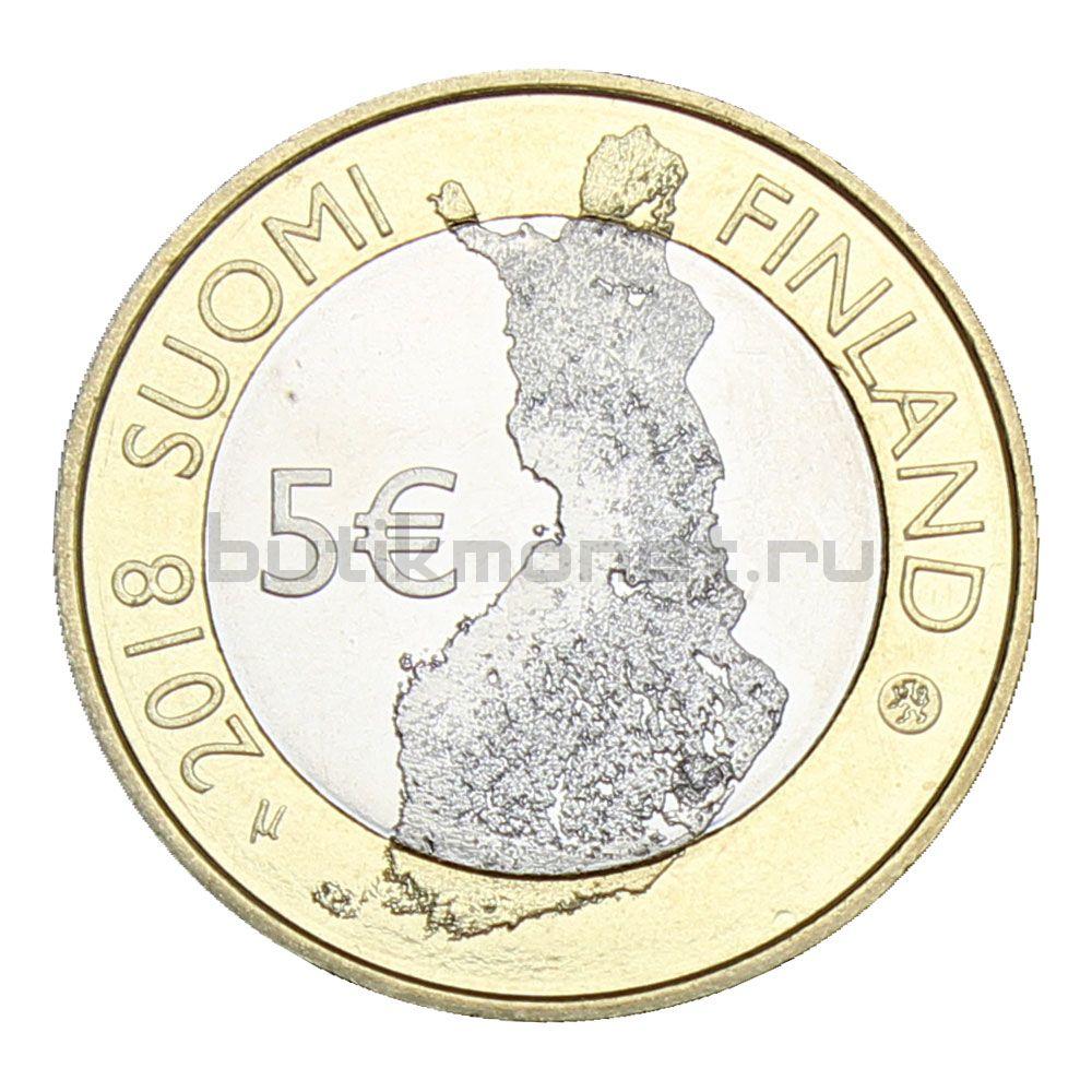 5 евро 2018 Финляндия Замок Олавинлинна (Финский пейзаж)