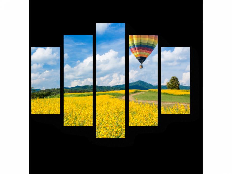Модульная картина Пролетая над желтым полем