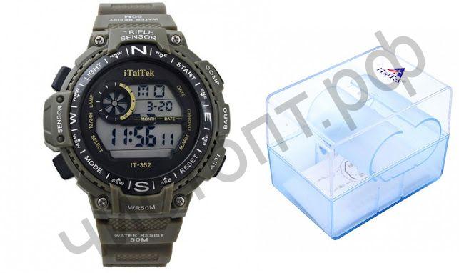 Часы наручные iTaiTek IT-352 подсветка ,таймер , будильник защита от дождя