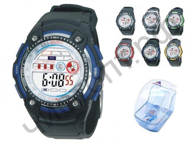 Часы наручные iTaiTek IT-819L подсветка ,таймер , будильник защита от дождя
