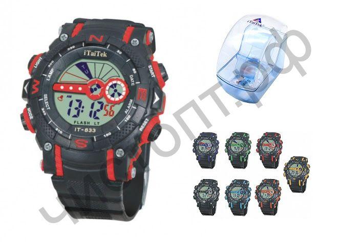 Часы наручные iTaiTek IT-833 подсветка ,таймер , будильник защита от дождя