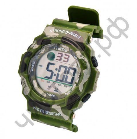 Часы наручные iTaiTek IT-848C-1 подсветка ,таймер , будильник защита от дождя