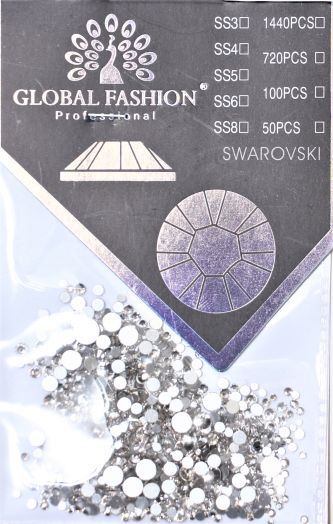 Стразы Глобал Фэшн MIX 1440 шт (кристалл)