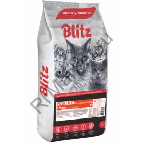 Blitz Adult Cat Poultry (сухой корм для взрослых кошек «Домашняя птица» )