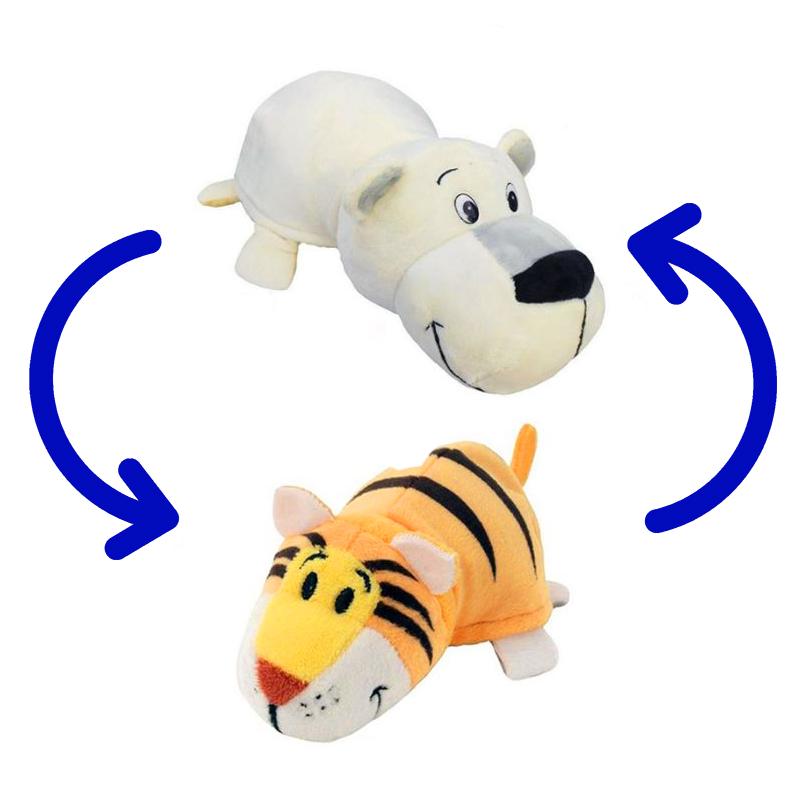 Игрушка-Перевертыш 2в1 Медведь-Тигр 15 см