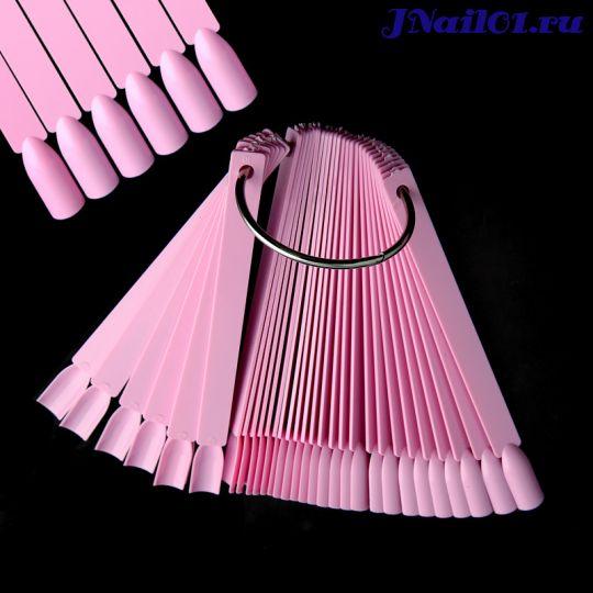 Дисплей для лаков 50 штук сборный на кольце, розовый