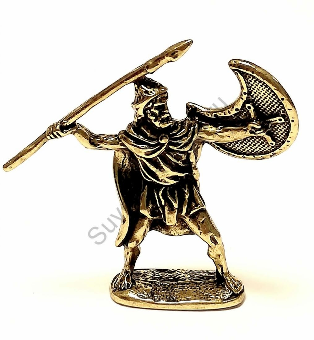 Фигурка воин с копьем