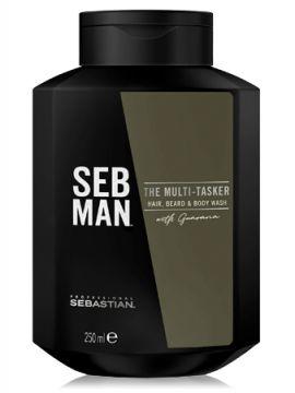 Sebman the multitasker 3 в 1 шампунь для ухода за волосами, бородой и телом