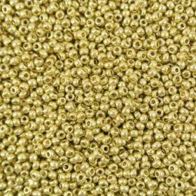 Бисер чешский 18113 светло-золотой непрозрачный металлик Preciosa 1 сорт