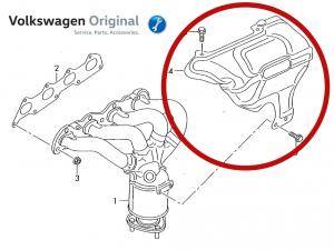 Теплозащитный экран VAG CFNA/CFNB Volkswagen Polo Sedan/Rapid