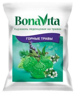 """Карамель леденцовая Bona Vita БАД """"Горные травы"""" с витамином С"""" на травах 60 гр"""