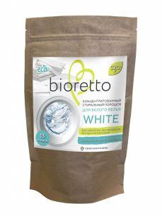Концентрированный стиральный порошок «BIORETTO» для белого белья, 520 гр