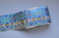 Фольга для дизайна ногтей, литья (переводная). Цвет: рыбья чешуя (Размер: 4см на 1 метр)