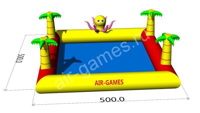 """Надувной бассейн """"Пальмы"""" (с осьминожкой) 5m 5m"""