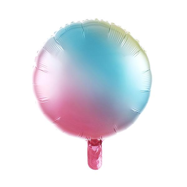 Круг радужный шар фольгированный с гелием