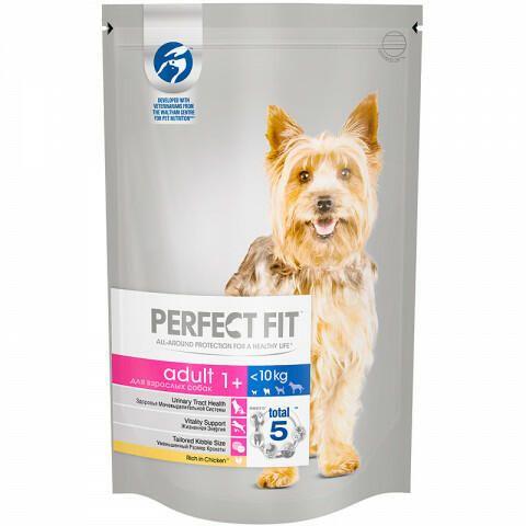 Перфект Фит для собак 500г взрослые собаки мелк/мин.пород Курица