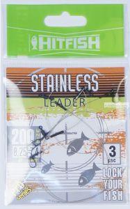 Поводки стальные Hitfish Stainless Leader 1x19 150мм /11,2 кг / 3 шт в упаковке