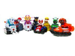 Большой набор из 8-ми спасателей с машинками (Гонщик, Скай, Крепыш, Зума, Маршал, Роки, Эверест, Райдер) (Щенячий патруль)