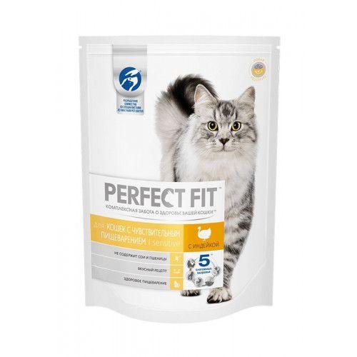 Перфект фит 650г д/чувствит. кошек вкус индейки