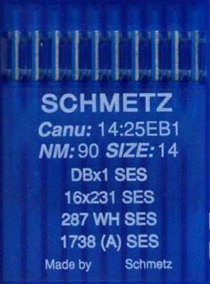 Иглы промышленные для трикотажа Schmetz DBx1 SES №90 10 шт