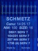 Иглы промышленные универсальные Schmetz DBx1 SERV7 №100 10 шт