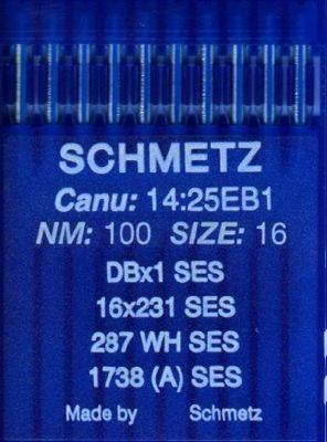 Иглы промышленные для трикотажа Schmetz DBx1 SES №100 10 шт