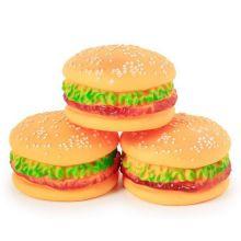 Виниловая игрушка-пищалка для собак Гамбургер, 8 см